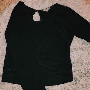 Black Dress Up Crop Top